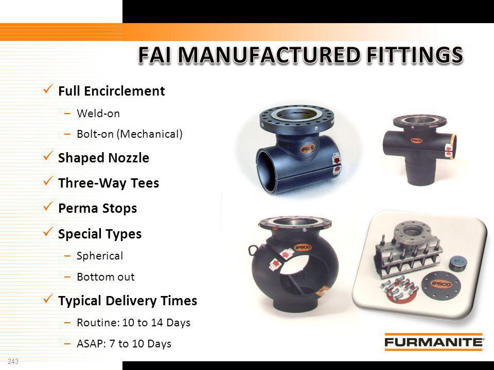 FAI MANUFACTURED FITTINGS