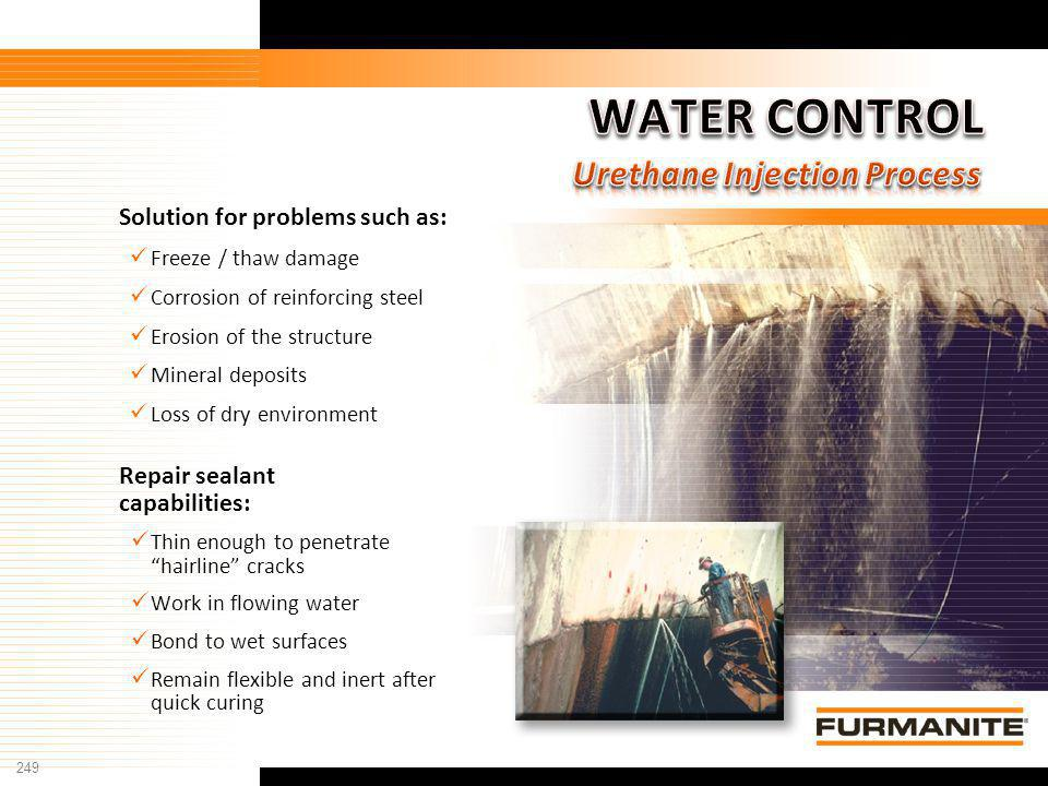 WATER CONTROL Urethane Injection Process