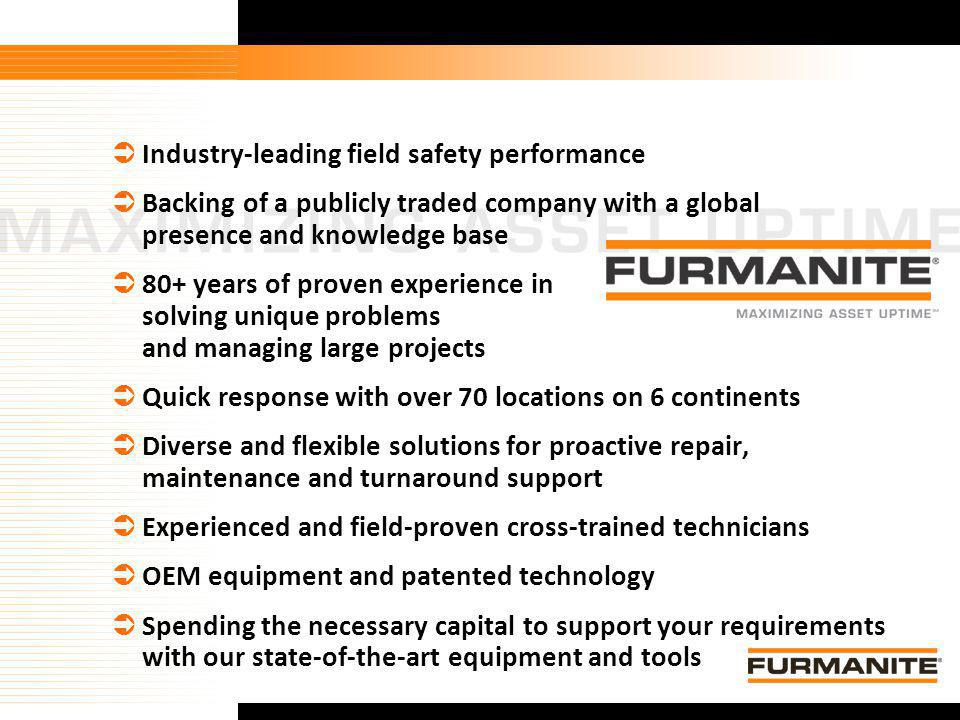 Industry-leading field safety performance