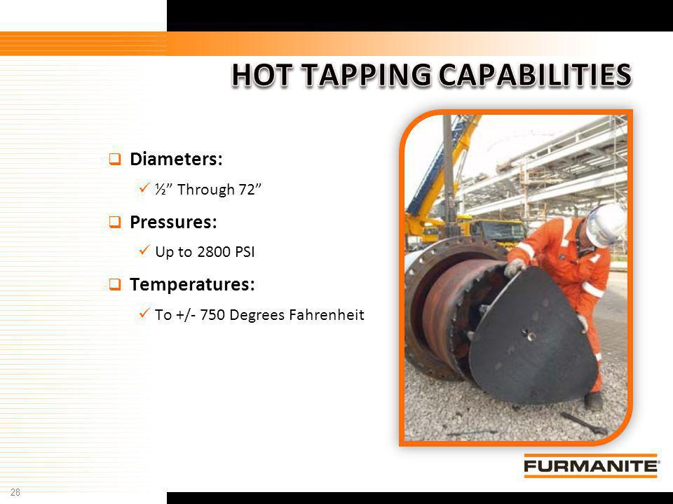 HOT TAPPING CAPABILITIES