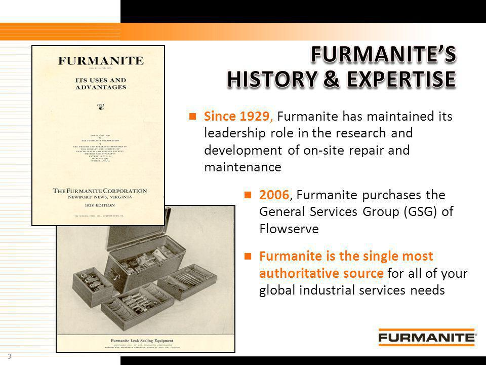 FURMANITE'S HISTORY & EXPERTISE