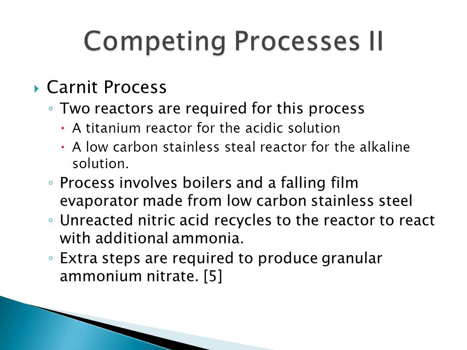 Competing Processes II