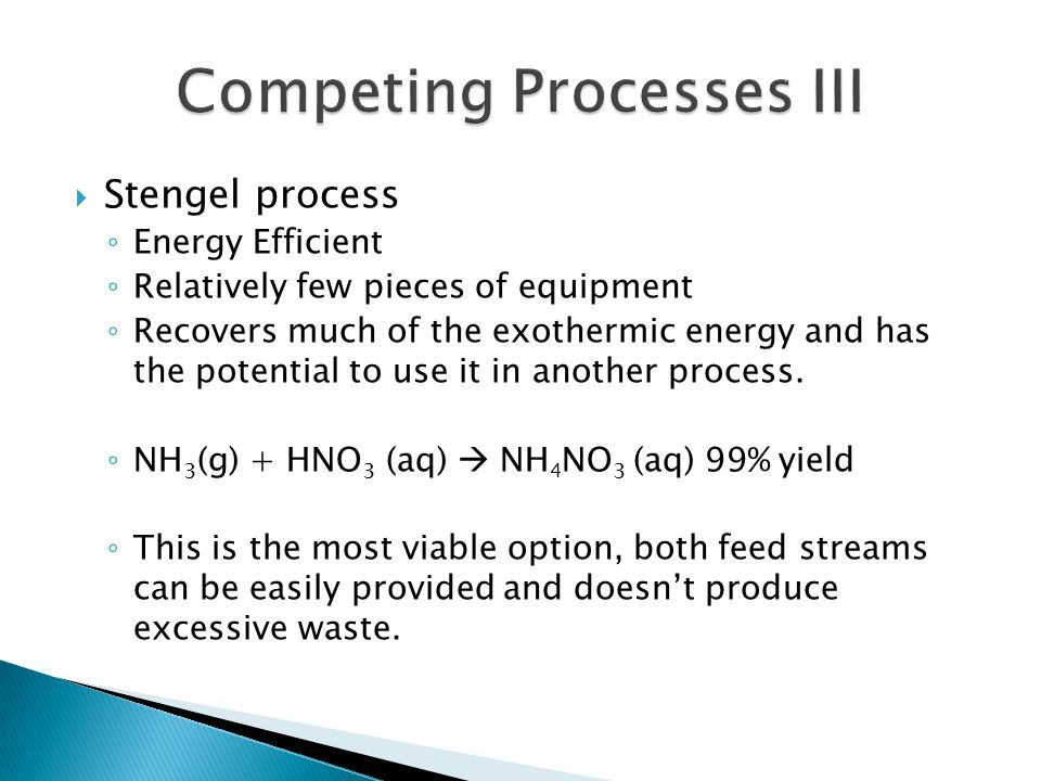 Competing Processes III