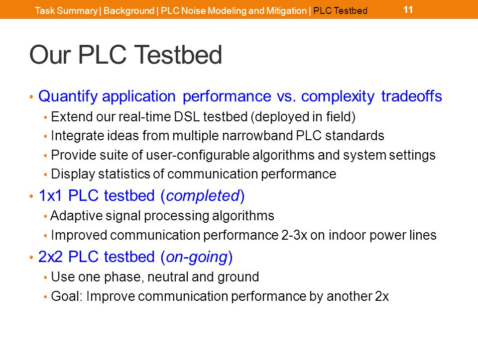 Our PLC Testbed Hardware Software