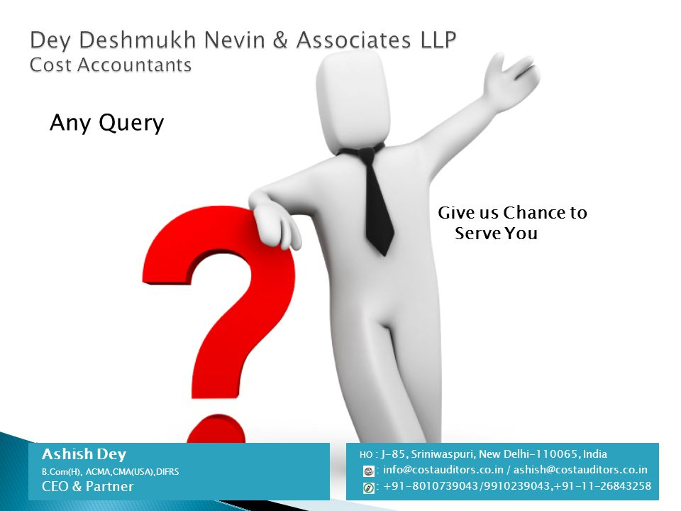 Dey Deshmukh Nevin & Associates LLP Cost Accountants