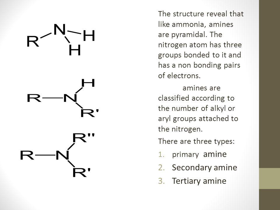 Secondary amine Tertiary amine