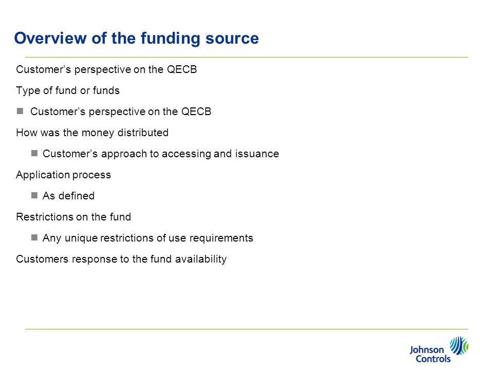 Overview of the funding source