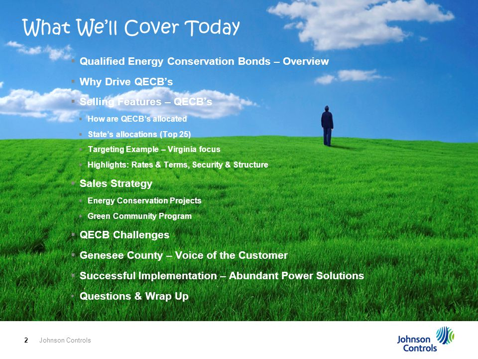 What We'll Cover Today Qualified Energy Conservation Bonds – Overview