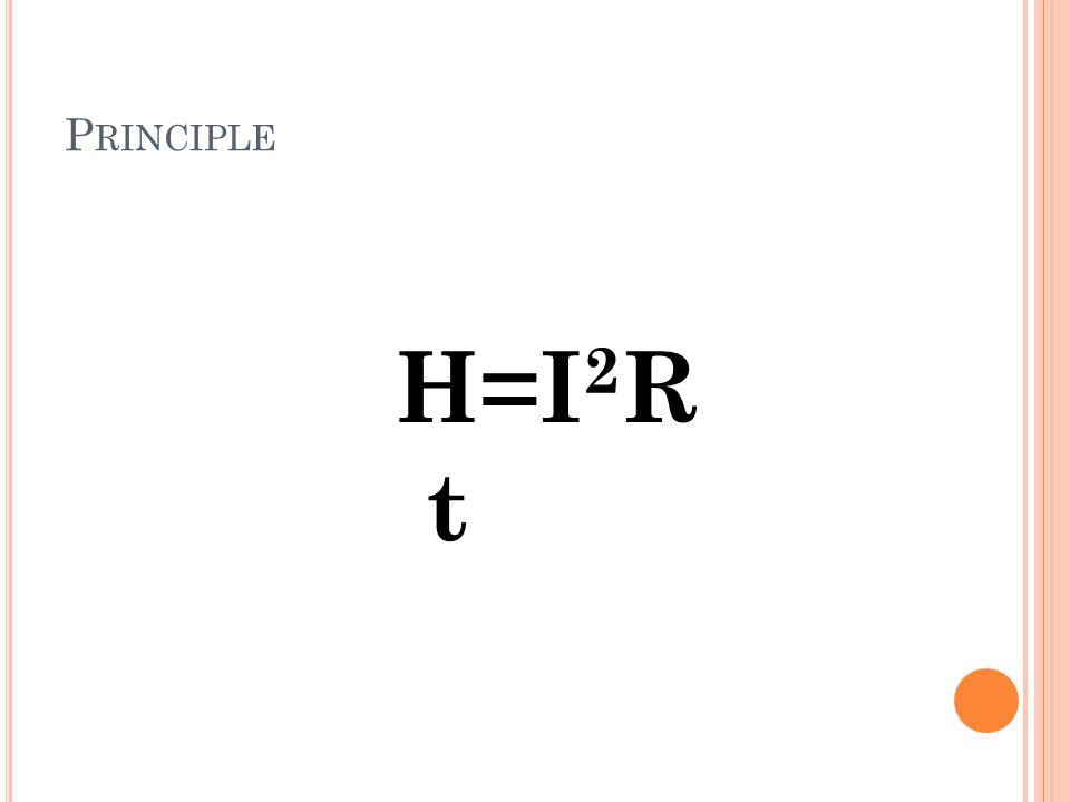 Principle H=I2R t