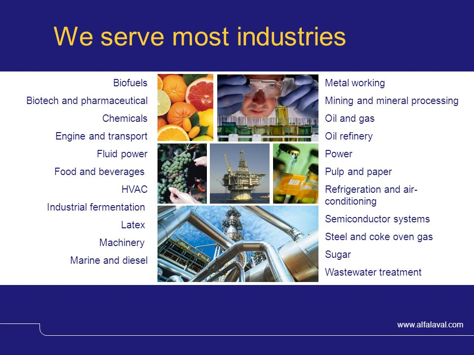We serve most industries