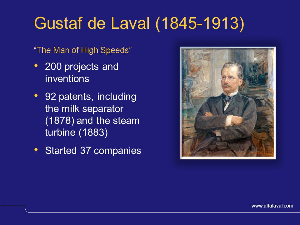 Gustaf de Laval (1845-1913) 200 projects and inventions