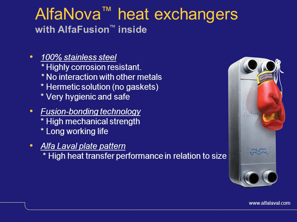 AlfaNova™ heat exchangers with AlfaFusion™ inside