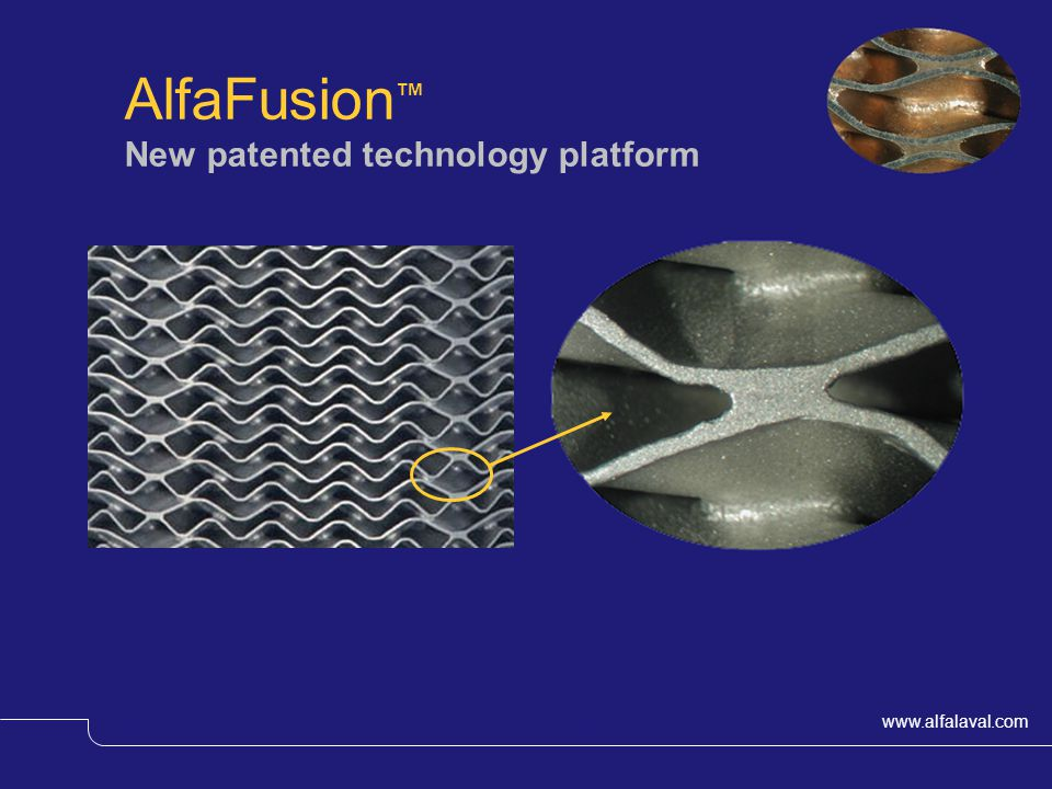 AlfaFusion™ New patented technology platform