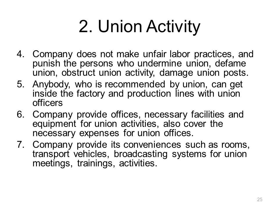 2. Union Activity