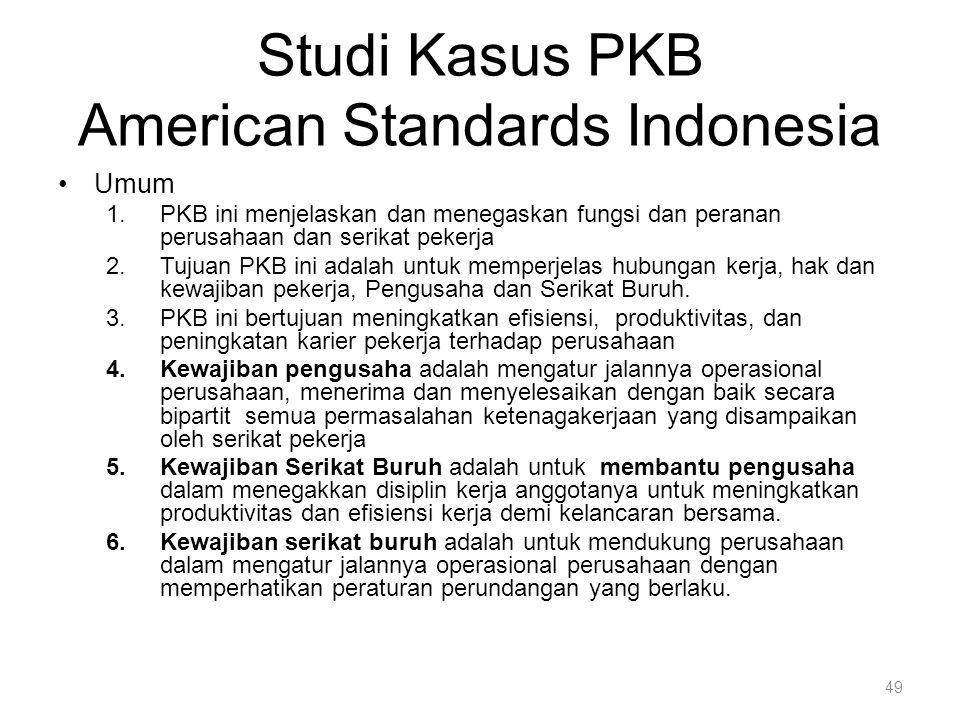 Studi Kasus PKB American Standards Indonesia