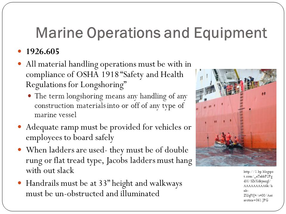 Marine Operations and Equipment