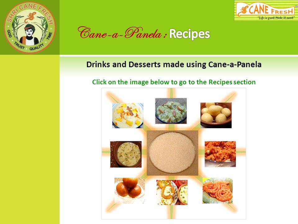 Cane-a-Panela : Recipes