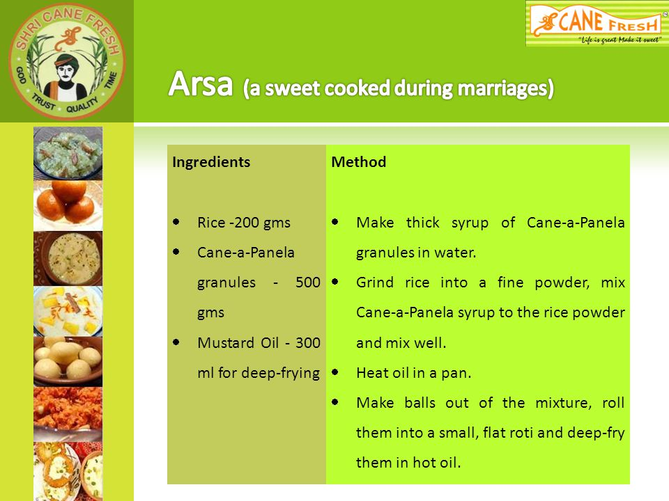 Arsa (a sweet cooked during marriages)