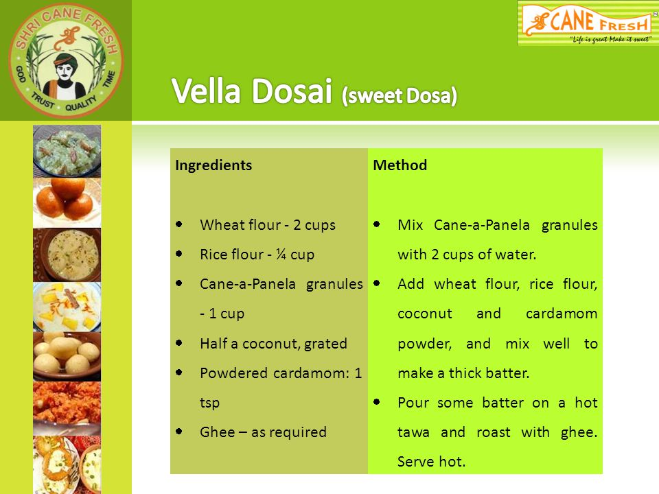 Vella Dosai (sweet Dosa)