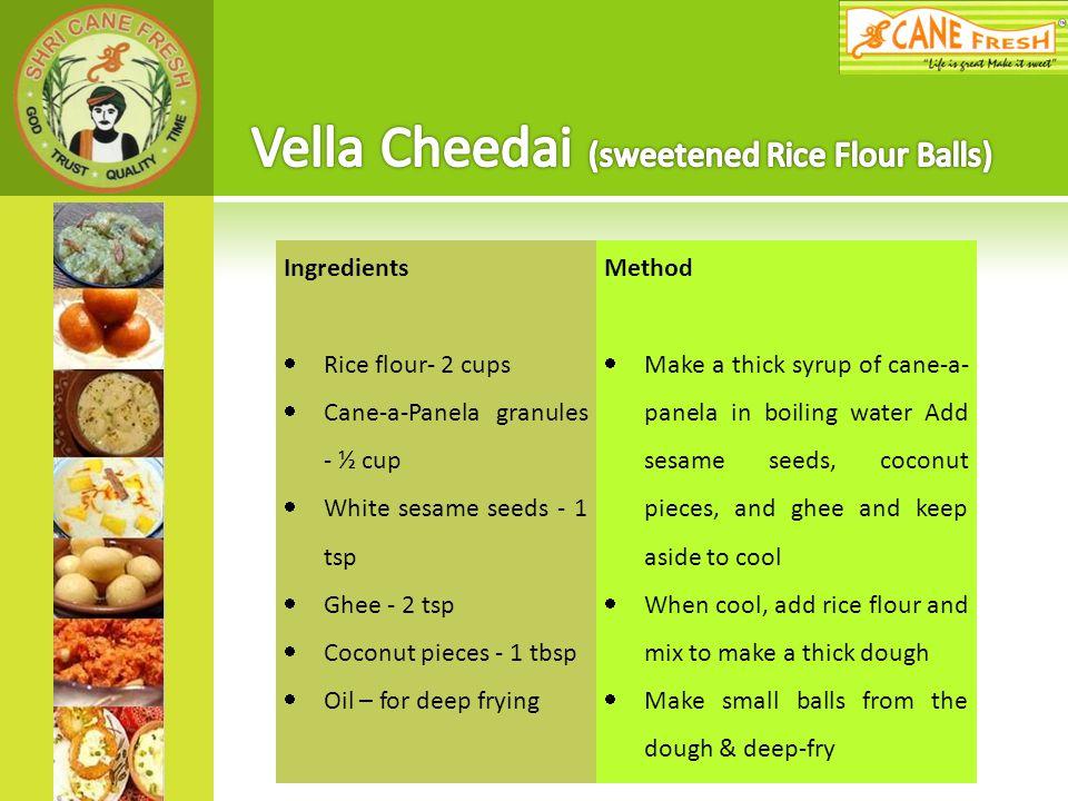 Vella Cheedai (sweetened Rice Flour Balls)