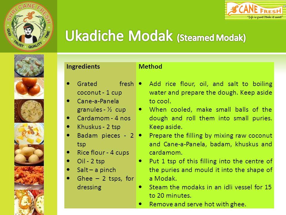 Ukadiche Modak (Steamed Modak)