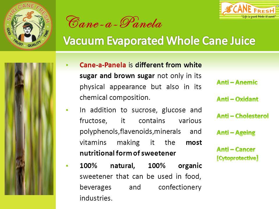 Cane-a-Panela Vacuum Evaporated Whole Cane Juice