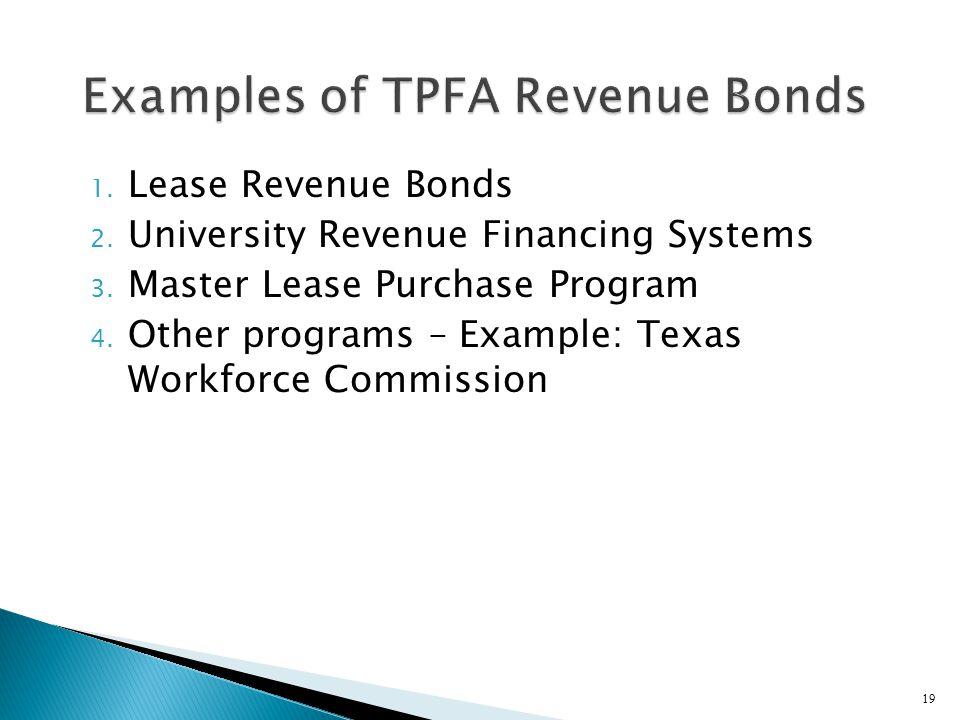 Examples of TPFA Revenue Bonds