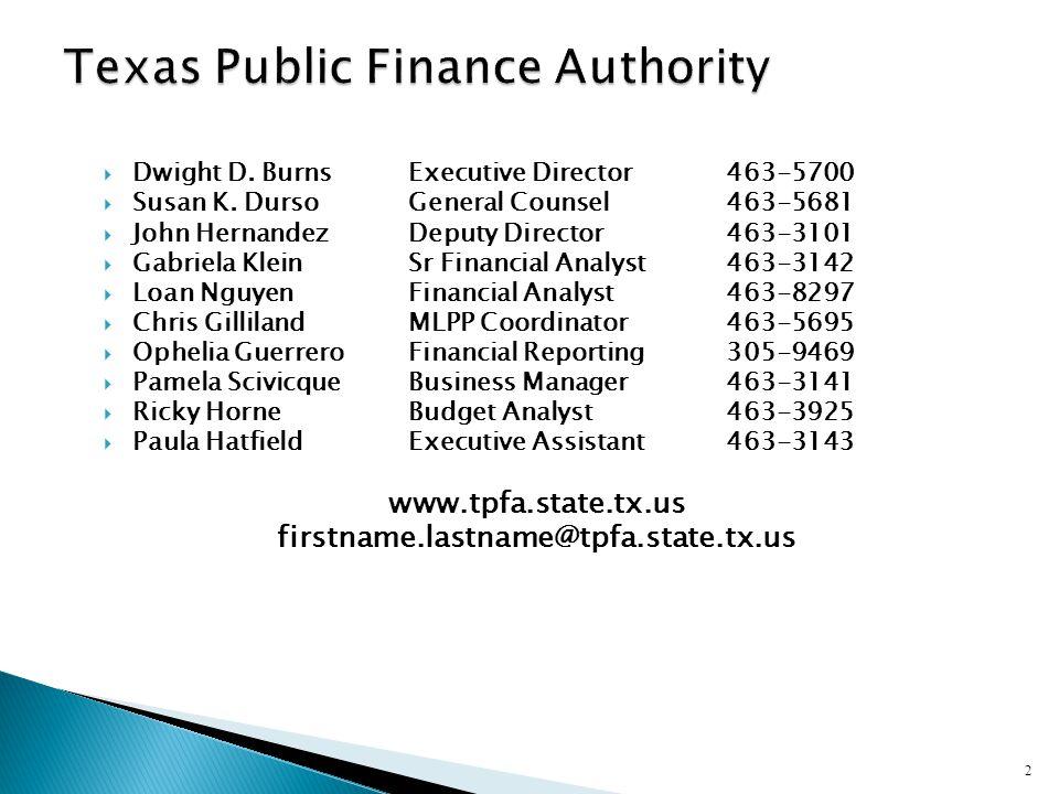 Texas Public Finance Authority