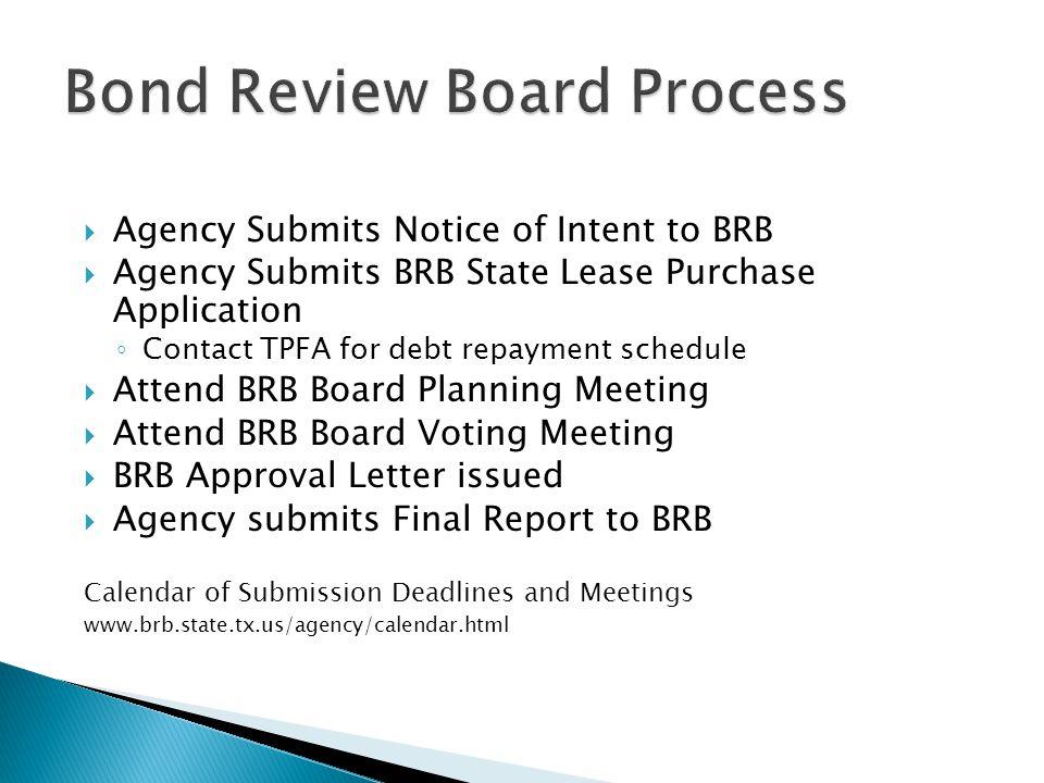 Bond Review Board Process