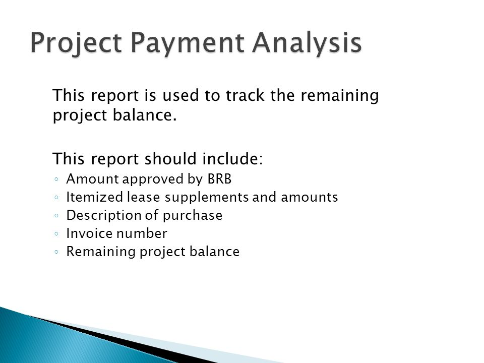 Project Payment Analysis