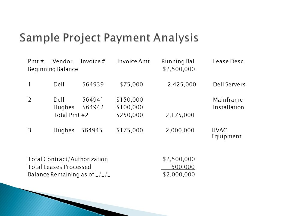 Sample Project Payment Analysis