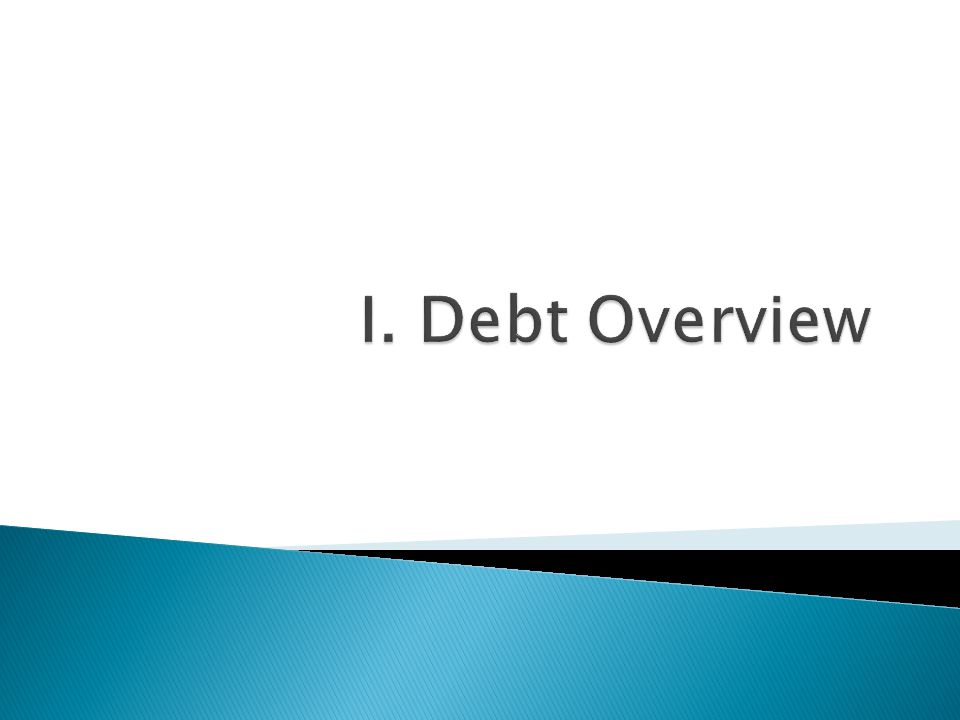I. Debt Overview