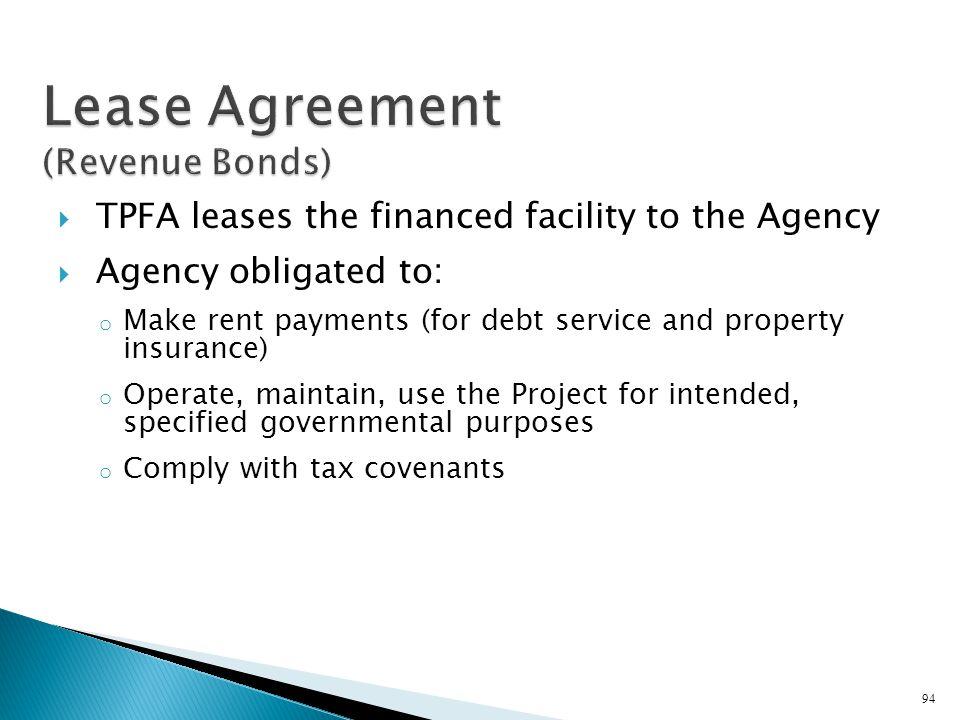 Lease Agreement (Revenue Bonds)