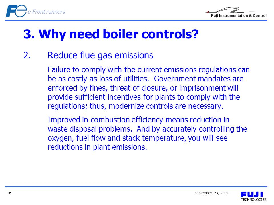 3. Why need boiler controls