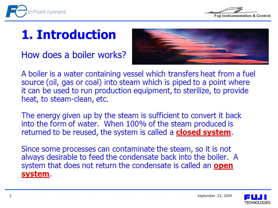 1. Introduction How does a boiler works