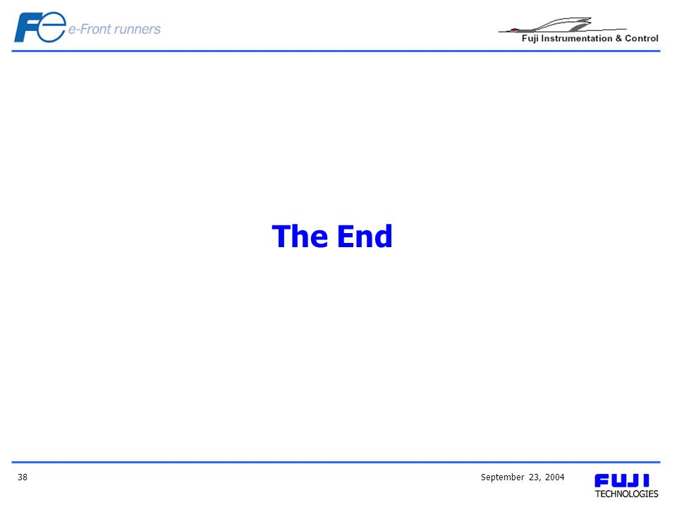 The End September 23, 2004