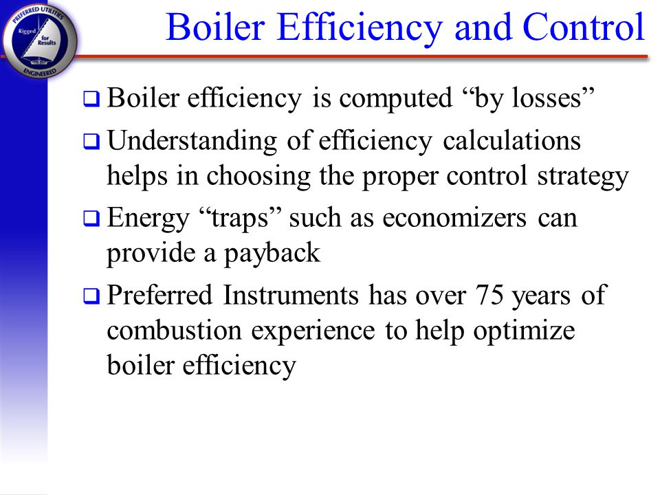 Boiler Efficiency and Control
