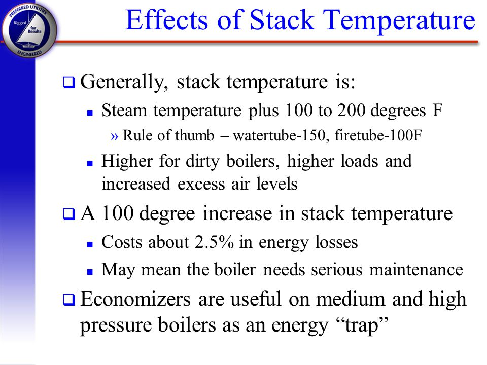 Effects of Stack Temperature