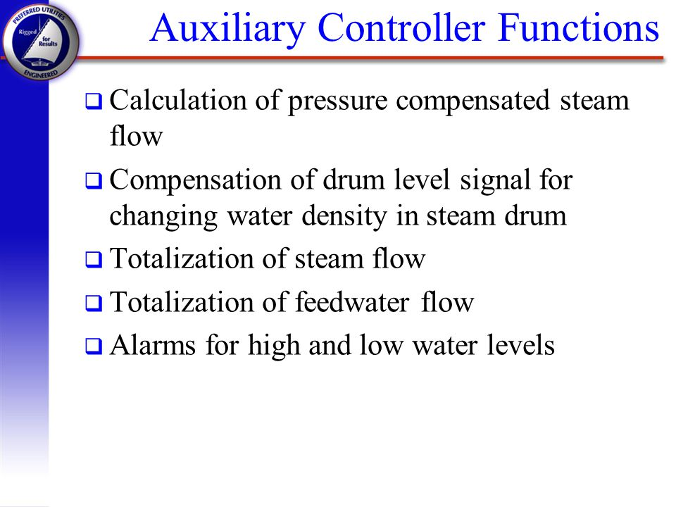 Auxiliary Controller Functions