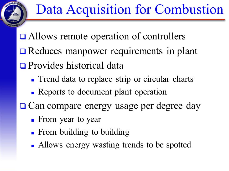 Data Acquisition And Trending : Preferred utilities manufacturing corp ppt video online