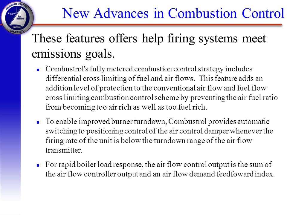 New Advances in Combustion Control