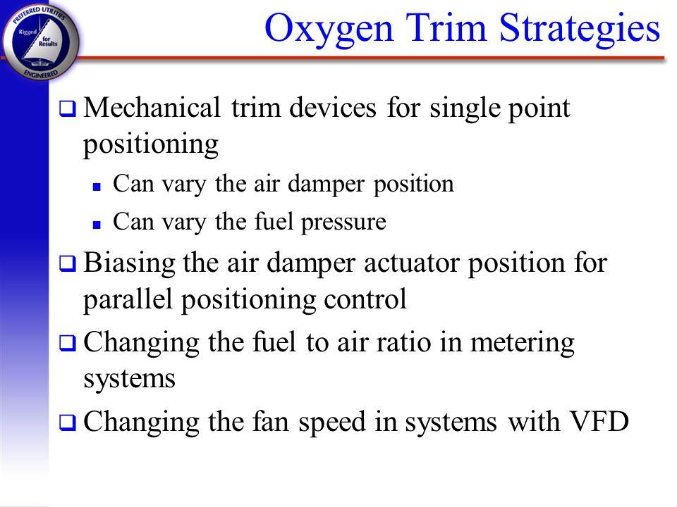Oxygen Trim Strategies