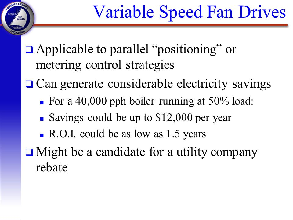 Variable Speed Fan Drives