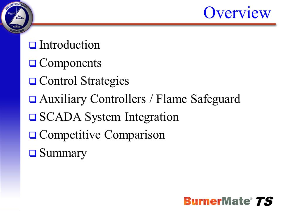 Overview Introduction Components Control Strategies