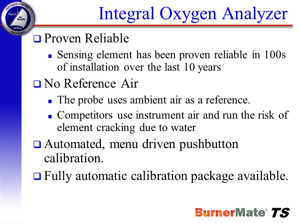 Integral Oxygen Analyzer