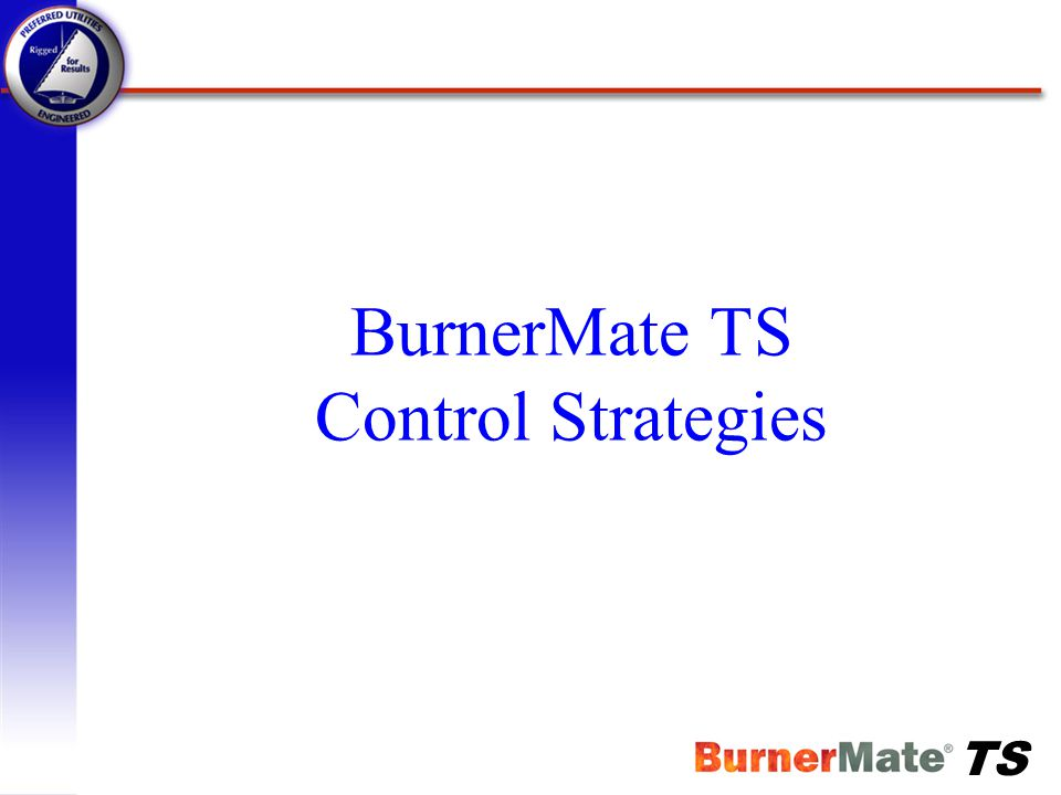 BurnerMate TS Control Strategies