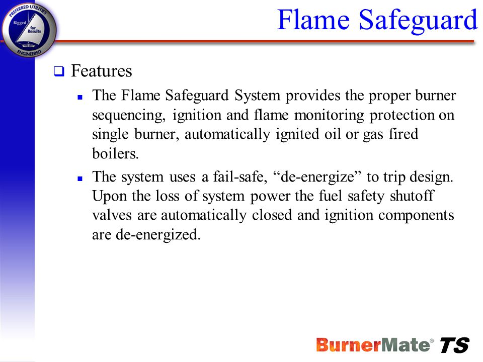 Flame Safeguard Features