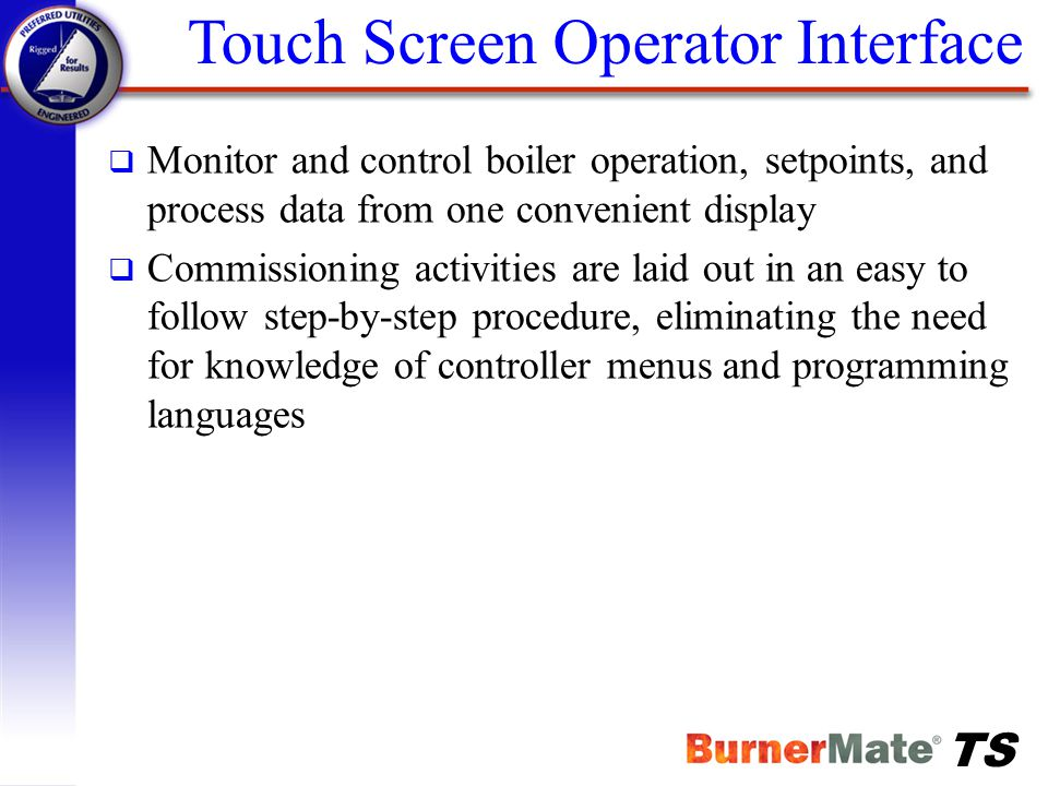 Touch Screen Operator Interface