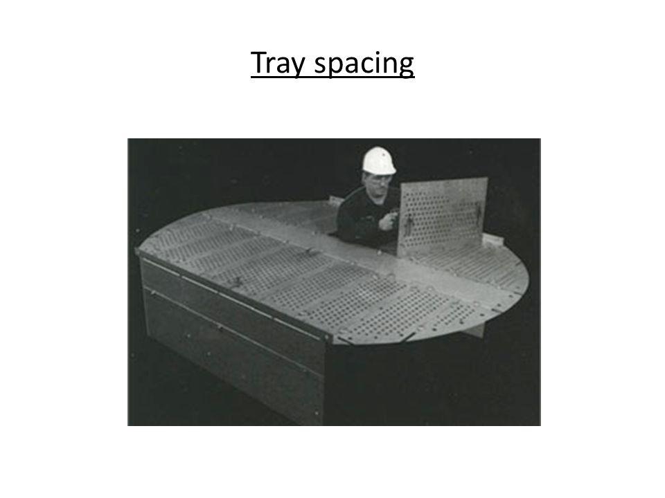 Tray spacing