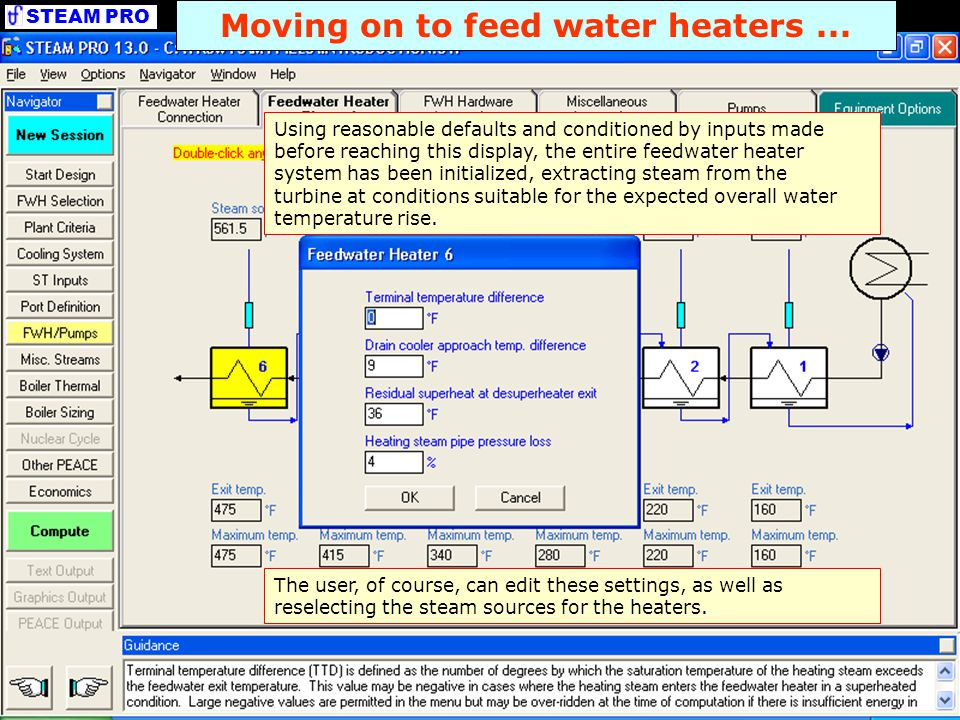Moving on to feed water heaters ...